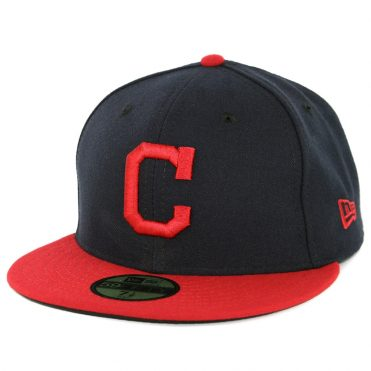 New Era 59Fifty Cleveland Indians Home Authentic On Field Fitted Hat Navy Red