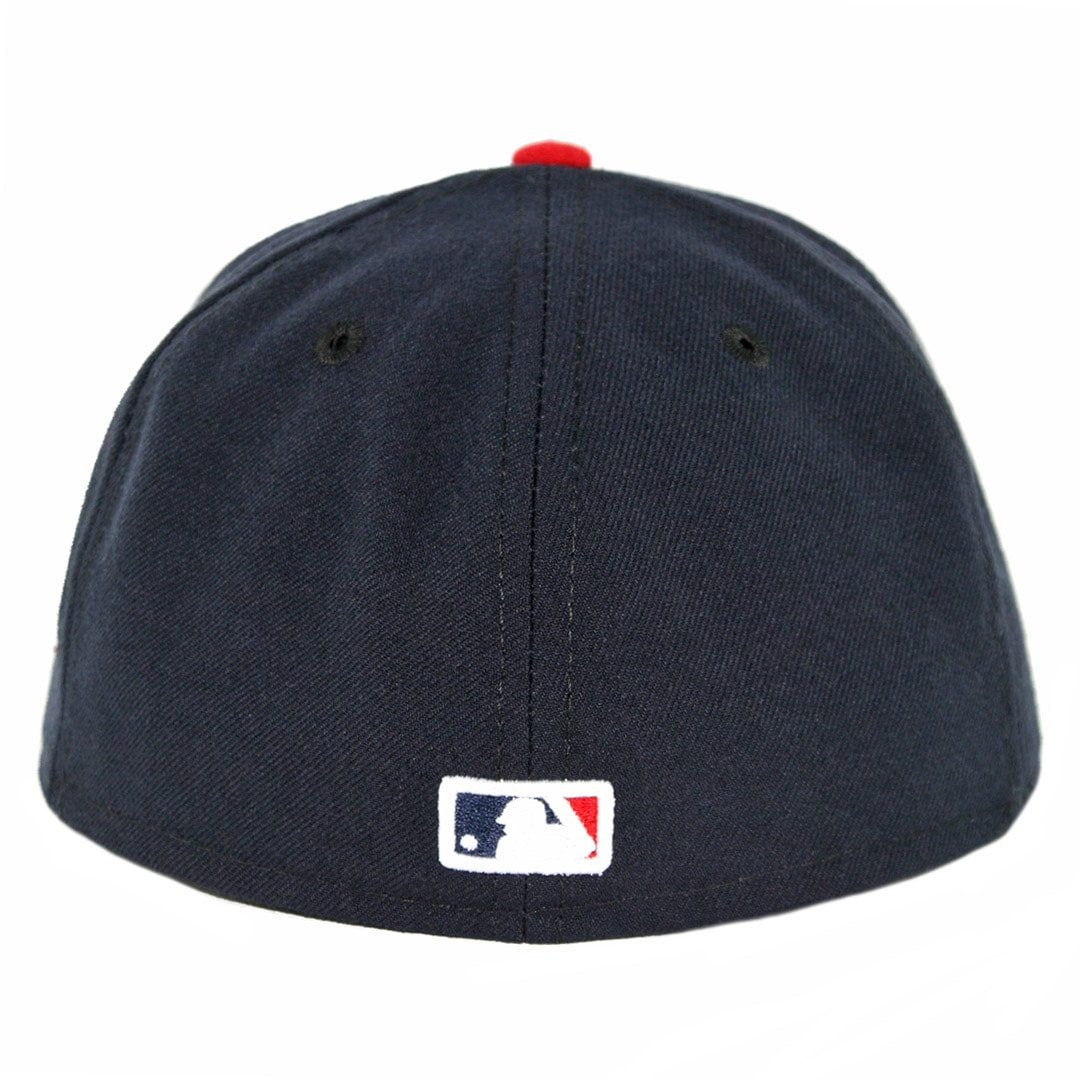 d382987c833 New Era 59Fifty Cleveland Indians Home Authentic On Field Fitted Hat Navy  Red. 🔍.  32.00