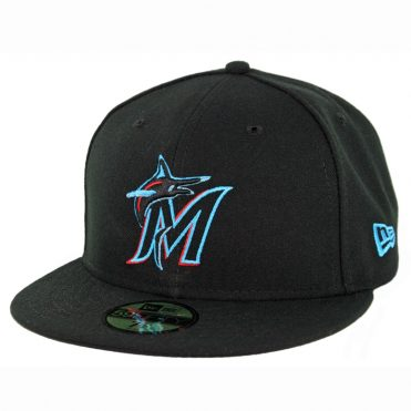 New Era 59Fifty Miami Marlins Game Authentic On Field Fitted Hat Black