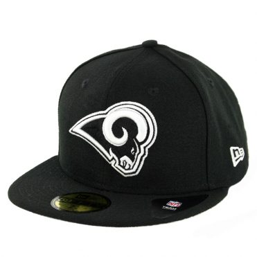 New Era 59Fifty Los Angeles Rams League Basic Fitted Hat Black