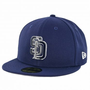 New Era 59Fifty San Diego Padres Metal Thread Fitted Hat Light Navy