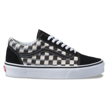 Vans Old Skool Blur Check Shoe Black Classic White