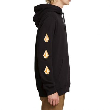 Volcom Deadly Stone Pullover Hooded Sweatshirt Black