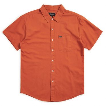 Brixton Charter Oxford Short Sleeve Woven Shirt Henna