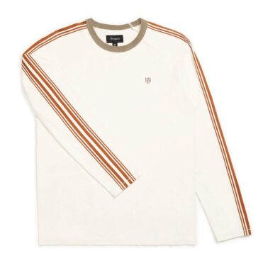 Brixton Este Long Sleeve Knit Shirt Cream Khaki