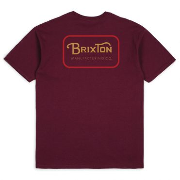 Brixton Grade Short Sleeve T-Shirt Burgundy Red