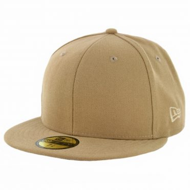 New Era 59Fifty Plain Blank Fitted Hat Khaki Tonal