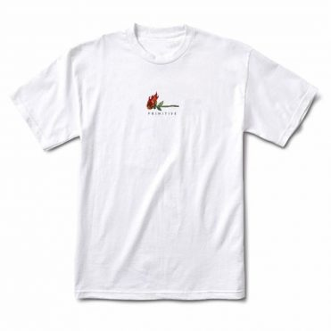 Primitive Burning T-Shirt White