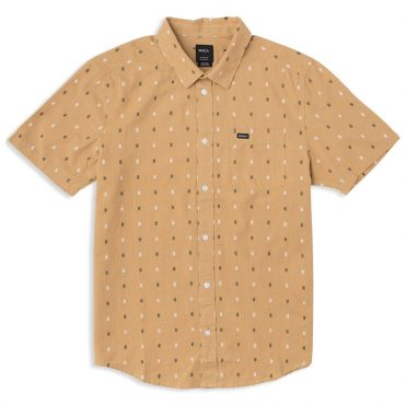 RVCA Aye Kat Short Sleeve Shirt Apple Cinnamon