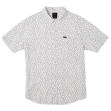 RVCA Ficus Floral Short Sleeve Shirt Antique White