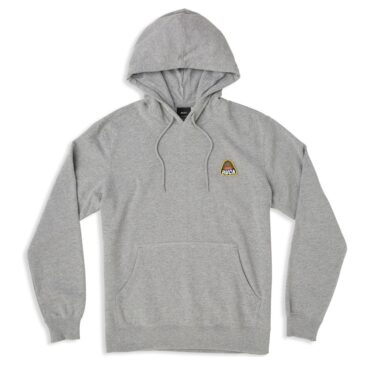 RVCA Logo Pack Pullover Hooded Sweatshirt Athletic Heather