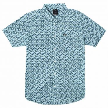 RVCA Porcelain Short Sleeve T-Shirt Ether Blue