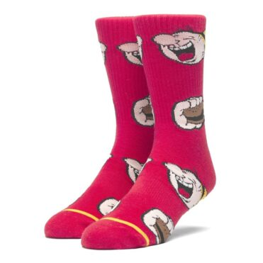 HUF x Popeye Wimpy Sock Red