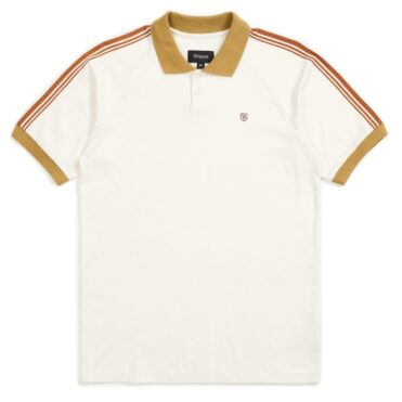 Brixton Este Polo Shirt Cream Khaki