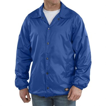 Dickies Snap Front Windbreaker Jacket Royal Blue