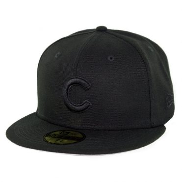 19bbd79fbe1 New Era 59Fifty Chicago Cubs Blackout Fitted Hat Black ...