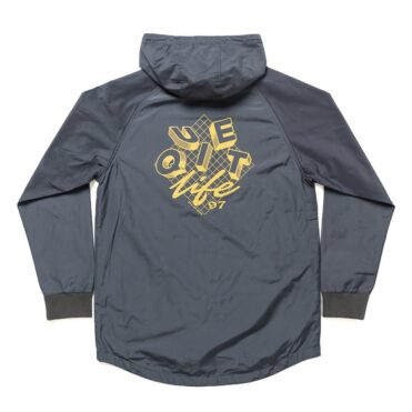 The Quiet Life Hooded Monsoon Jacket Charcoal