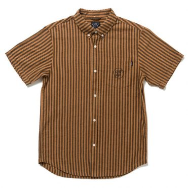 The Quiet Life Indio Short Sleeve Button Down Shirt Cocoa