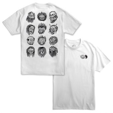 Sketchy Tank Faces T-Shirt White