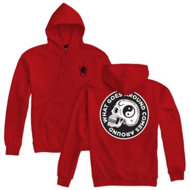 Sketchy Tank Widow Pullover Hooded Sweatshirt Red