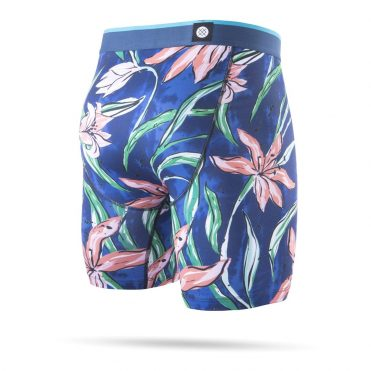 Stance Plumeria Wave Boxer Brief Blue