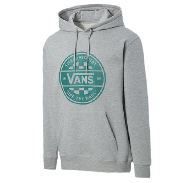 Vans Checker CO. Pullover Hooded Sweatshirt Cement Heather