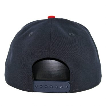 New Era 9Fifty Atlanta Braves Home Basic Snapback Hat Dark Navy Red