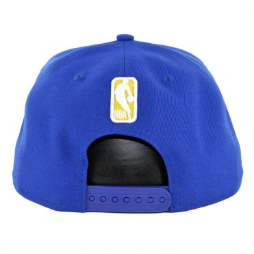 New Era 9Fifty Golden State Warriors Metal Thread Snapback Hat Royal Blue
