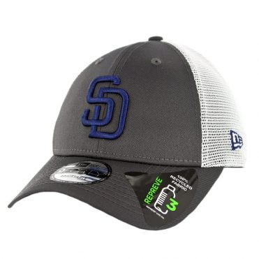 New Era 9Forty San Diego Padres Repreve Snapback Hat Graphite