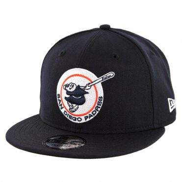 New Era 9Fifty San Diego Padres Gwynn Friar Snapback Hat Navy