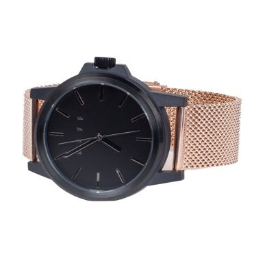 Neff Carbine Mesh Watch Rose Gold Black