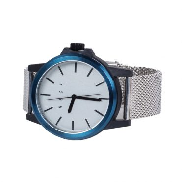 Neff Carbine Mesh Watch Silver White Royal