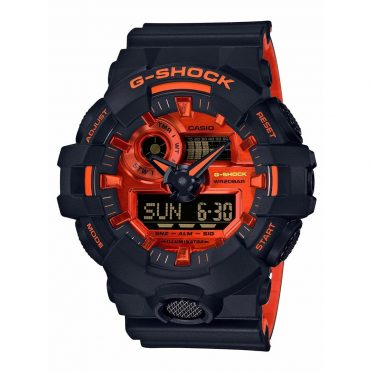 G-Shock GA700BR-1A Watch Black Orange