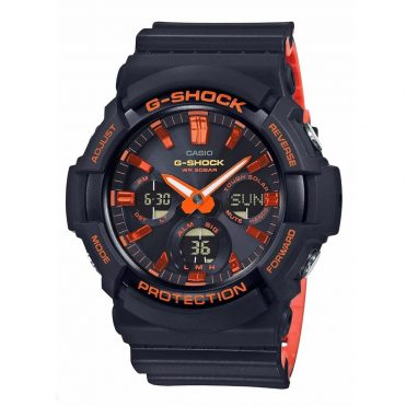 G-Shock GAS100BR-1A Watch Black Orange