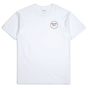Brixton Wheeler II T-Shirt White Black Red