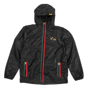 DGK Lux Custom Windbreaker Jacket Black