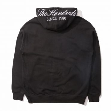 The Hundreds Dubs Zip-Up Hooded Sweatshirt Black
