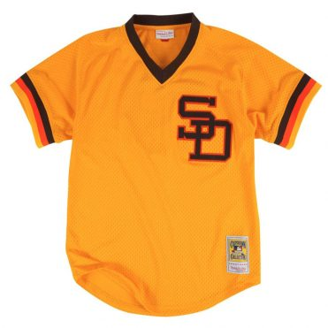 Mitchell & Ness San Diego Padres Authentic Batting Practice 1982 Jersey Gold