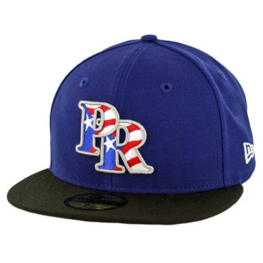 New Era 59Fifty Puerto Rico Fitted Hat Dark Royal Black