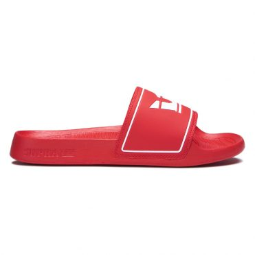 Supra Lockup Slide Shoe Risk Red
