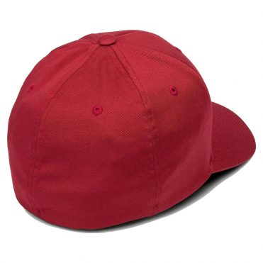 Volcom Full Stone Xfit Flexfit Hat Engine Red