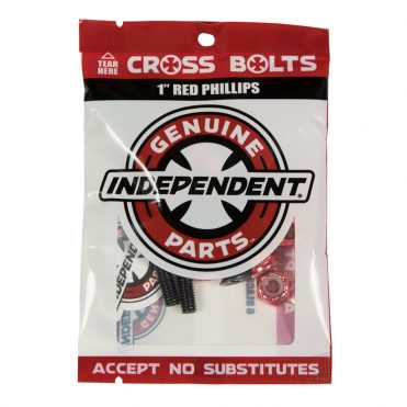 Independent Phillips 1″ Cross Bolts Black Red