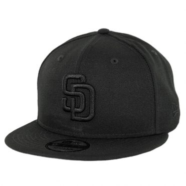 New Era 9Fifty San Diego Padres Basic Snapback Hat Black Black