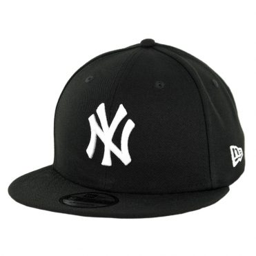 New Era 9Fifty New York Yankees Basic Snapback Hat Black White