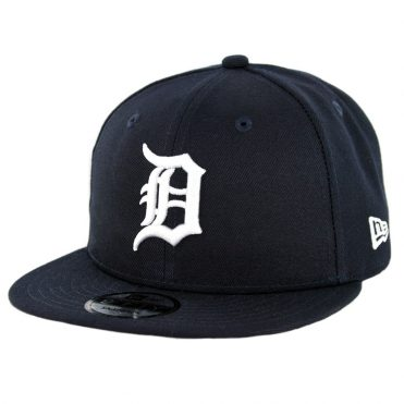 New Era 9Fifty Detroit Tigers Home Team Basic Snapback Hat Dark Navy