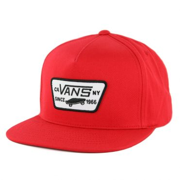 Vans Full Patch Snapback Hat Racing Red