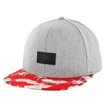 Vans Allover It Snapback Hat Racing Red Arachnofloria