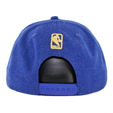 New Era 9Fifty Golden State Warriors Metal Framed 2 Snapback Hat Heather Royal Blue