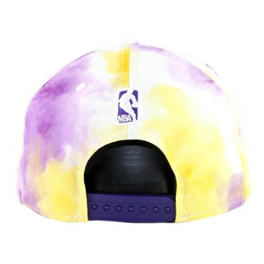 New Era 9Fifty Los Angeles Lakers Color Disturb Snapback Hat Official Team Colors