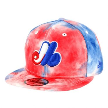 New Era 9Fifty Montreal Expos Color Disturb Snapback Hat Official Team Colors